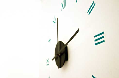 Timestamp The organisation of the numerals in the wall clock defines its visual structure
