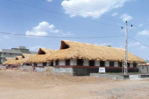 A blast from the past - the functional advantages of a thatch roof  over RCC are innumerable, the most important being its stronger earthquake resistance.