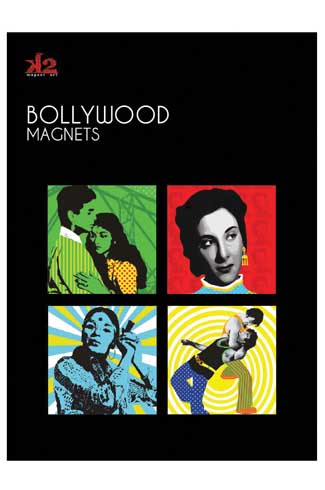 Fridge Magnets A series of fridge magnets reflecting mainstream themes of bollywood- love, music, violence and intoxication.