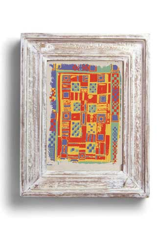 Framed Designs This graphic print is inspired from a traditional hand sewn quilt called 'ralli', found in the Kacchch region of Gujarat.
