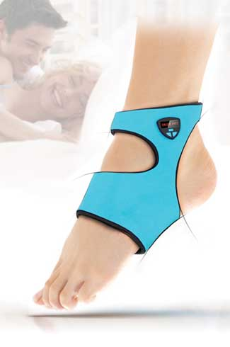 Acuwake Sock The Acuwake sock helps you to gradually and smoothly come out of your deep sleep. It's a Red Dot winner!