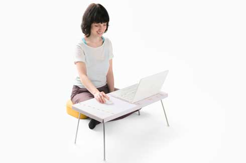 Klapp-Top Klapp-Top is an easy to handle, low table with foldable and  self-locking legs