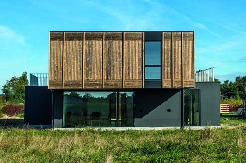 The 146 sq. m. house is designed to cater to a single family but has the propensity to adapt to changing requirements