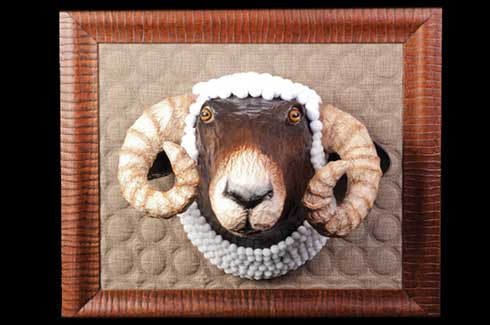 Edmond the Ram was commissioned from Egypt; decked in a pom-pom collar he makes a  distinguished picture.