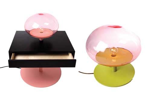 Level Table and Lamp