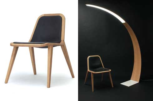 The Oak Concept Chair & Lamp