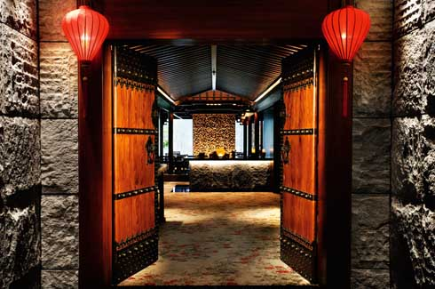 The ultimate in Chinois chic, the Cherry Garden is styled like a modern Oriental residence.