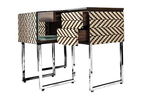 Study Console The Study Console has a modern staggered detailwith Duco and PU polish.