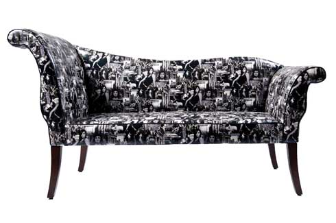 Chaise Lounge  The Chaise Lounge dons a modern look dressed in a digital print.