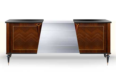 Slice sideboard Slice sideboard is available in varied exterior finishes