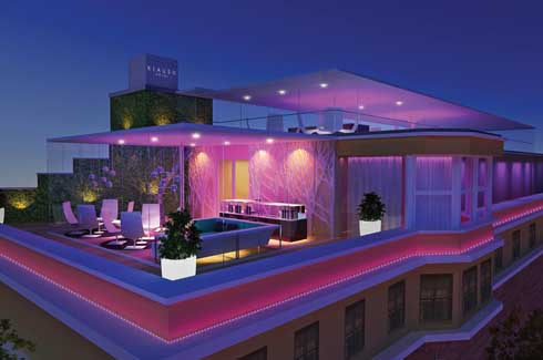 Guests also have the option of booking a private 100 sq m roof terrace; the perfect spot for an intimate evening soirée.