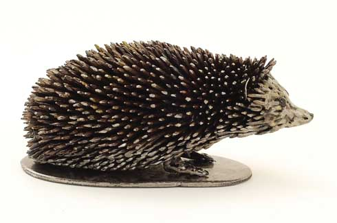 Brian Mock's creations animate human behaviour, seen above is a ground hedgehog in a curious mood.
