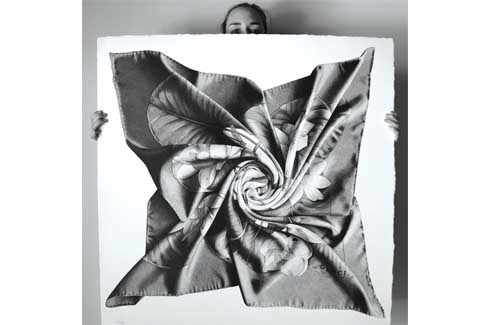 This Gucci twisted scarf is CJ Hendry's favourite drawing which she believes resonates with her in many wonderful ways.