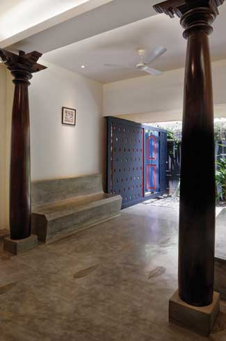 Deepak Guggari-VDGA Studio-dark wooden furniture-IPS benches-kota floors-04
