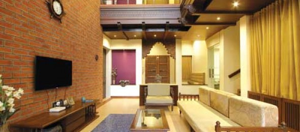 A modern haveli for Architecture design for home in vadodara
