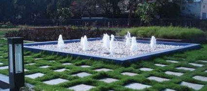 Kalpak Bhave, landscape architect, pebbled beds, LEED Certified Platinum, Supreme Chambers