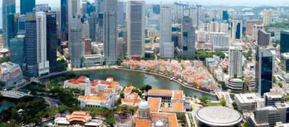 Singapore, The little red dot, new majestic hotel, chinatown shophouse, Gardens by the Bay, The red dot design.