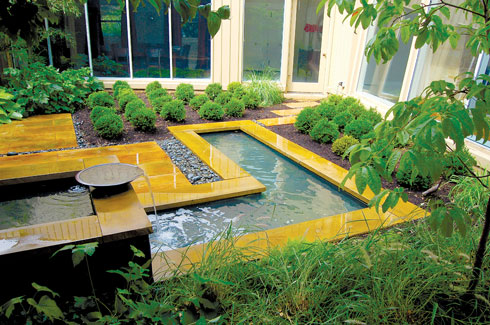 Doug Myers, landscape designer, Fern Hill Landscapes, modernist residence, geometric forms, Zen garden, APLD's International Landscape Design Awards.