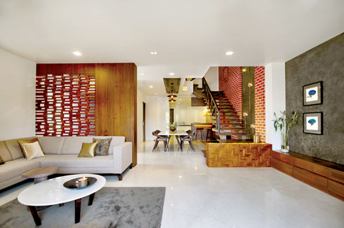 Of wood and brick for Architecture design for home in vadodara