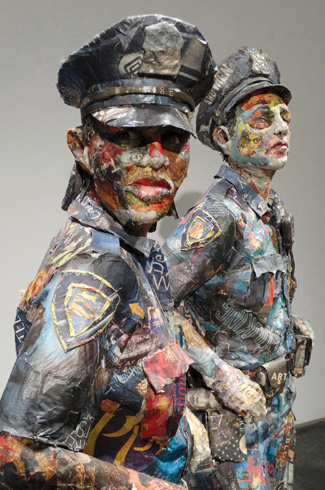 Will Kurtz, Michigan, newspaper sculptures, recyclable art.