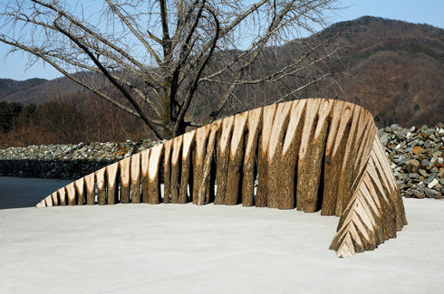 Jaehyo Lee, discarded wood, South Korea, sculptures.