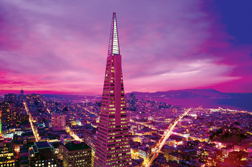 San Francisco, Hotel Des Arts, Transamerica Pyramid, 1300 On Fillmore, Golden Gate Bridge.