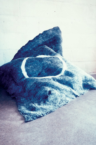 Grace Wood, Grace Wood Design Studio, Australia, Merino, crossbred wool, sustainable felt textiles.