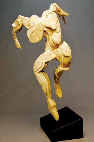 Jozef Sumichrast, cardboard sculptures, three-dimensional sculptures, Susan's Dance.