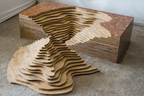 Pushing Boundaries - Topographic coffee table