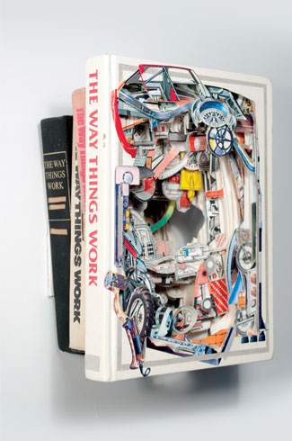 Brian Dettmer, book surgeon, X-Acto knife.