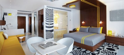 Luna2 Studiotel, boutique hotel, Bali, Design Hotels, Melanie Hall, 60s pop culture, funked-up modernism, Cassina by Philippe Starck, Verner Panton and Tom Dixon.