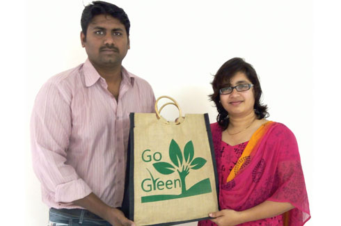 Suhasan Reddy , Harika Meka , SaveGlobe, Green products, eco-friendly products, dinnerware, environment, renewal resource.