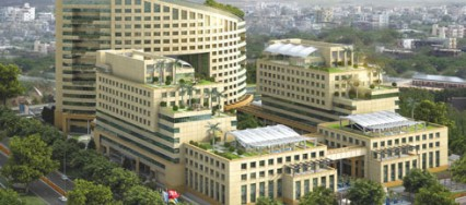 Cyberwalk, architecture, green building glass, The Eco Towers, The Eco Suites, environment friendly green architecture.