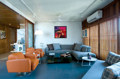 Tejal Mathur, Mumbai apartment, skylight, contemporary aesthetic, Polished IPS.