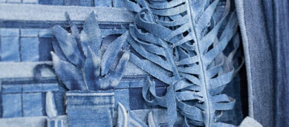 Denim art, Denimu, Ian Berry, Photorealism, Behind Closed Doors.