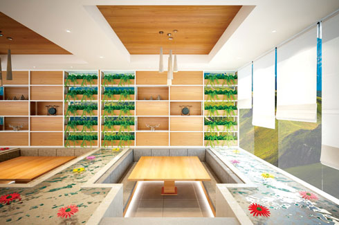 SAGA Design Architects, Mayur Gujare , Deval Shah, Eco Café, Bachelor Pad, Tree Table, Champa tree.