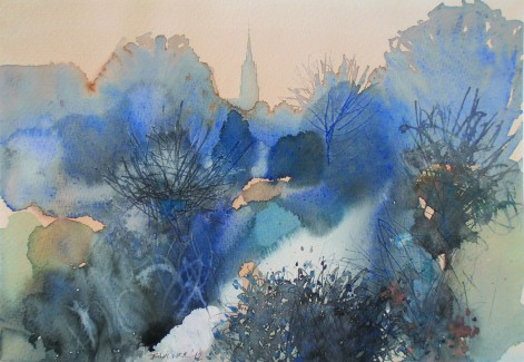 Endre Penovac, watercolour, paintings, intuitive, harmony, expert brushstrokes.