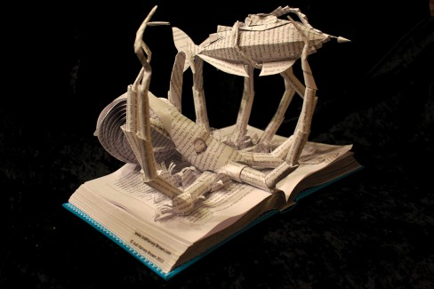 Jodi Harvey Brown, book sculptures, Remodelling, Pennsylvania, paper sculptures, spectatorial simulation