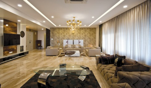 Castel Royale, Pune, AA Architects, woodwork concepts, modern furniture and accessories, warm yellow lighting scheme