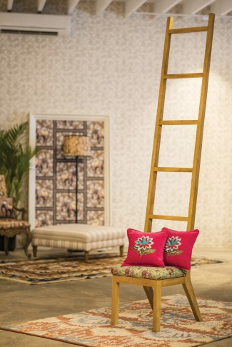 Cottons & Satins by Mala, Mala Sapra, Mumbai, bespoke furnishings, wooden staircase, plants and terrariums, Indian fabrics and prints, upholstery, textiles, cushions, duvets, furniture, lamp shades, carpets, wallpapers, home accessories.