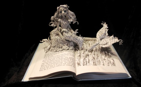 Jodi Harvey Brown, book sculptures, Remodelling, Pennsylvania, paper sculptures, spectatorial simulation.