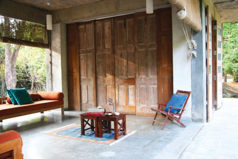 Kavan Shah Design Studio, restrained material palette, Mumbai, The Verandah, Kihim, The Tattoo Studio, Mumbai, Hygroscopic Morphology, deformable water collector.