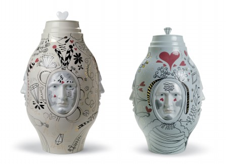 Jaime Hayon, Happy Susto Vases, Folkifunki, Kutani Choemon, Chinoz lamps, Fantasy collection, Bacarrat Zoo collection, Showtime Chair.