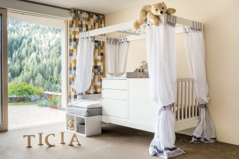 Childrens Furniture, TICIA, cosy cradle, comfortable, easy on the back, height, adequate storage space, extra quiet drawers.