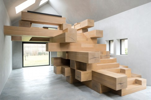 Studio Farris Architects, Belgium, Antwerp, West Flanders stable, Giuseppe Farris, home-office, two-storey structure, natural light, rural landscape, box-in-box' feature, lush landscapes.