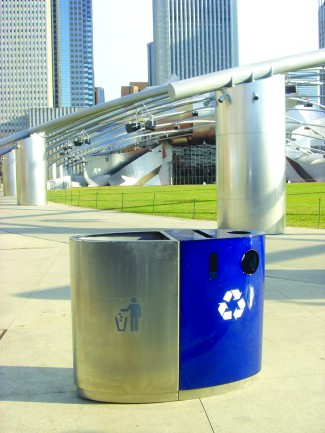 EcoTrio, Commercial Recycling Bins, Deborah Kang, The Street, Chicago, The Millennium.