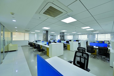 Syska Office, Pune, LED lights, Beyond Design, attached terraces.