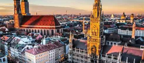 Munich, Capital of Bavaria, Alps mountain range, Southern Germany, Home of the Monks, Isar River.