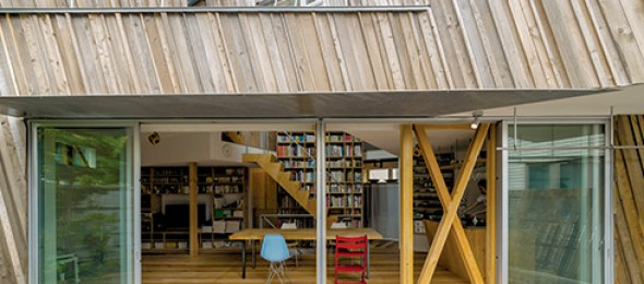 SANDWICH, Team Low Energy, Kyodo House, Japan, sustainable architecture, recycled timber, Kohei Nawa.