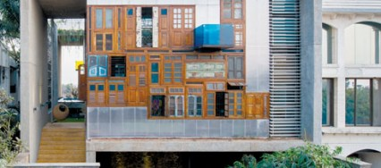 S+PS Architects, Shilpa Gore-Shah, Pinkish Shah, Collage House, Navi Mumbai, recycled elements, concrete façade, minimalist interiors, heritage cement tiles, colonial furniture.